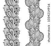 set of seamless borders for... | Shutterstock .eps vector #1034214916
