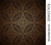 vintage gold ornamental...   Shutterstock .eps vector #1034217676