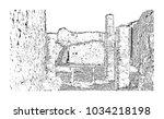 pompeii is a vast... | Shutterstock .eps vector #1034218198