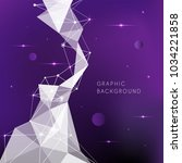 geometry pattern with violet... | Shutterstock .eps vector #1034221858