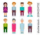 set of males and females... | Shutterstock .eps vector #1034224732