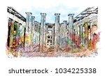 pompeii is a vast... | Shutterstock .eps vector #1034225338