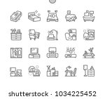 furniture well crafted pixel... | Shutterstock .eps vector #1034225452