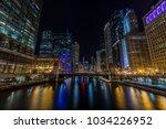 chicago downtown  city street...   Shutterstock . vector #1034226952