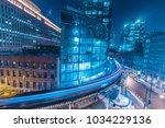chicago downtown train light...   Shutterstock . vector #1034229136