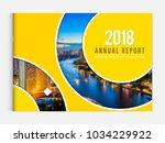 business brochure cover design... | Shutterstock .eps vector #1034229922