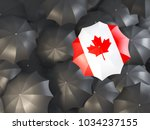 Umbrella With Flag Of Canada On ...