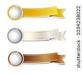 golden silver and bronze... | Shutterstock .eps vector #1034238022