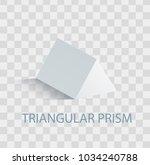 triangular prism geometric... | Shutterstock .eps vector #1034240788