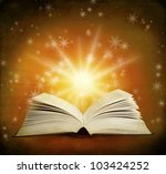 open magic book on a background ...   Shutterstock . vector #103424252