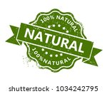 100  natural stamp   Shutterstock .eps vector #1034242795