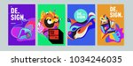 abstract colorful collage... | Shutterstock .eps vector #1034246035