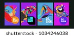 abstract colorful collage... | Shutterstock .eps vector #1034246038