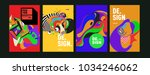 abstract colorful collage... | Shutterstock .eps vector #1034246062