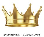 Royal Gold Crown Isolated On...
