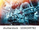 industrial zone  steel... | Shutterstock . vector #1034249782