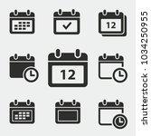 calendar vector icons set....   Shutterstock .eps vector #1034250955