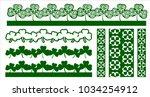 laser cut vector border cut... | Shutterstock .eps vector #1034254912