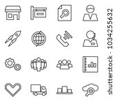 flat vector icon set   store... | Shutterstock .eps vector #1034255632