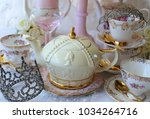 royal wedding high tea bridal... | Shutterstock . vector #1034264716