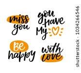 love phrases   love hand... | Shutterstock .eps vector #1034266546