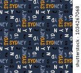 sydney seamless pattern.... | Shutterstock .eps vector #1034267068