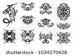 freakish dragon symbols with... | Shutterstock .eps vector #1034270428