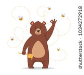 Vector Cartoon Style Bear...