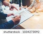 startup business team co... | Shutterstock . vector #1034273092
