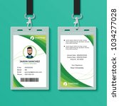 green graphic id card design... | Shutterstock .eps vector #1034277028