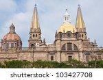 guadalajara cathedral  jalisco  ...   Shutterstock . vector #103427708