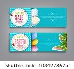 vector set illustration. easter ... | Shutterstock .eps vector #1034278675