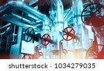 industrial zone  steel... | Shutterstock . vector #1034279035