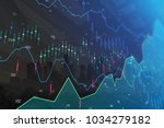 creative glowing forex chart on ... | Shutterstock . vector #1034279182