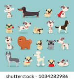 vector illustration set of cute ... | Shutterstock .eps vector #1034282986