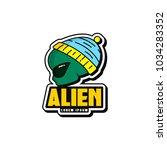 alien logo design   Shutterstock .eps vector #1034283352