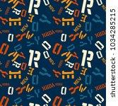 new york creative pattern.... | Shutterstock .eps vector #1034285215