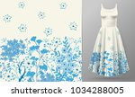 cute pattern in small simple... | Shutterstock .eps vector #1034288005