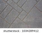 pattern of sidewalk stone floor ...   Shutterstock . vector #1034289412