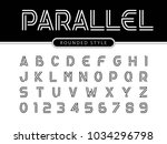 vector of modern alphabet... | Shutterstock .eps vector #1034296798