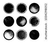 set of grunge post stamps ... | Shutterstock .eps vector #1034298052