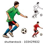 young soccer football player in ... | Shutterstock .eps vector #103429832
