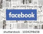 kiev  ukraine   february 08 ...   Shutterstock . vector #1034298658