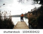 young hipster couple of...   Shutterstock . vector #1034303422