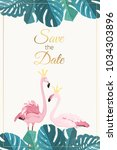 save the date rsvp wedding... | Shutterstock .eps vector #1034303896