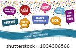 photo booth props set vector... | Shutterstock .eps vector #1034306566
