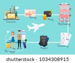 travel  and tourism infographic.... | Shutterstock .eps vector #1034308915
