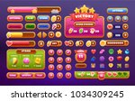 big set buttons for games and... | Shutterstock .eps vector #1034309245