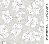tropic seamless pattern with... | Shutterstock .eps vector #1034310046