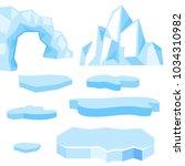 set of cartoon vector blue... | Shutterstock .eps vector #1034310982